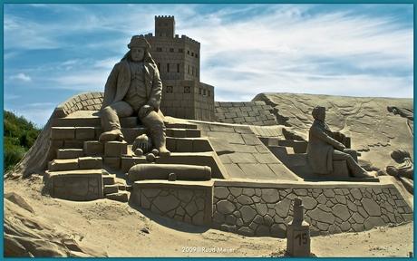 Zandsculptuur Texel