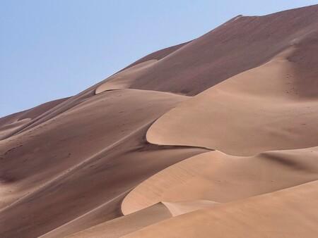 woestijn - De sierlijke vormen, gevormd door de wind in het zand. - foto door Lathyrus op 06-12-2018 - deze foto bevat: zand, china, woestijn, badain jadar