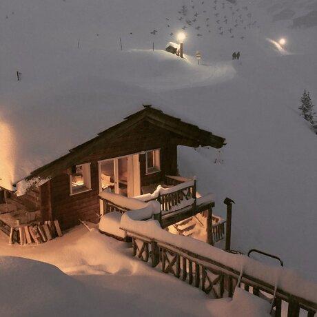 Avondschemering op de Belalp, Wallis Zwitserland