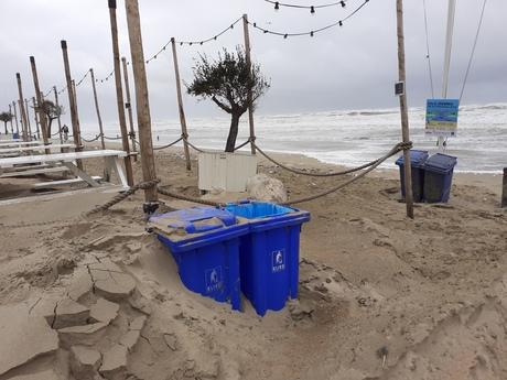 Storm ellende in Bakkum aan Zee   2020