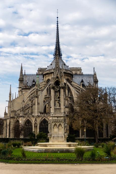 Notre Dame Paris Achterkant