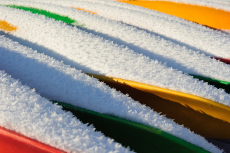 Colorful snow