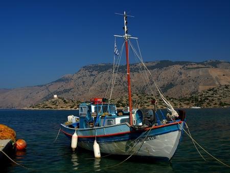 """Greece Fishing Boat... - Haven Simi ( Symi )  ThanX voor de reactie's op """"Empty Beach""""  Stan - foto door stanga op 12-11-2008 - deze foto bevat: stanga"""