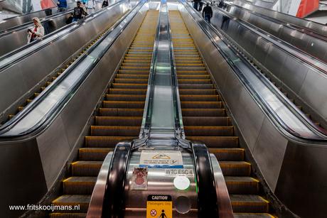 Roltrap bij de Subway Path New York