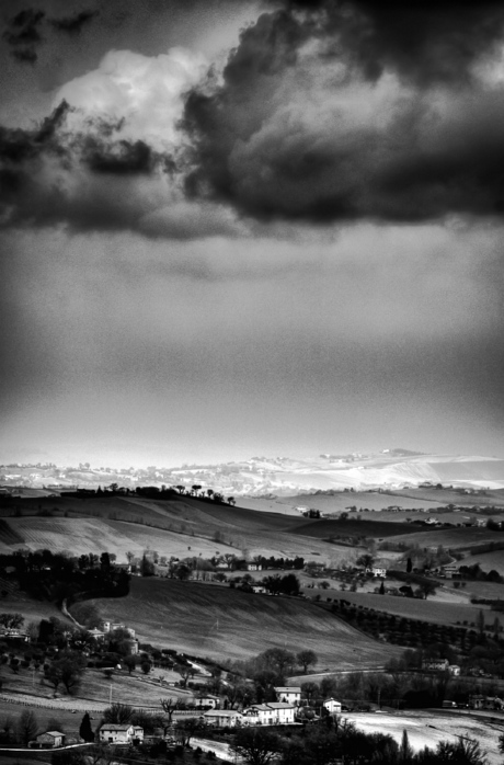 Ons uitzicht in zwart-wit....