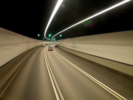 lange sluitertijd in tunnel