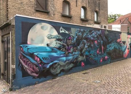 Muurschildering in Dordrecht