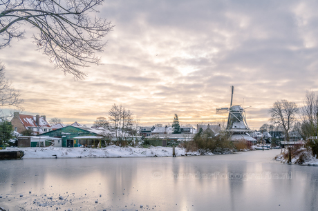 Meppel - molen de Weert in de winter