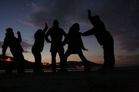 Silhouettes in Portnoo, Donegal