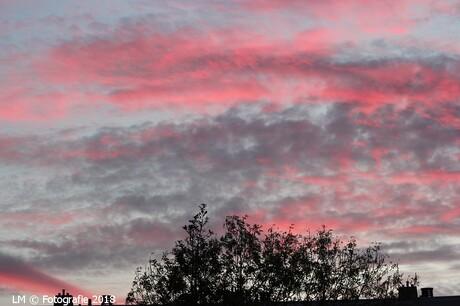 03-11-2018 Rode avondlucht boven Capelle.