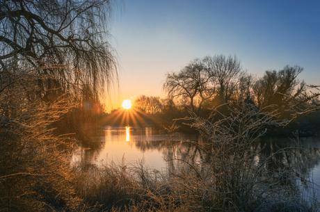 Winter zonsopkomst