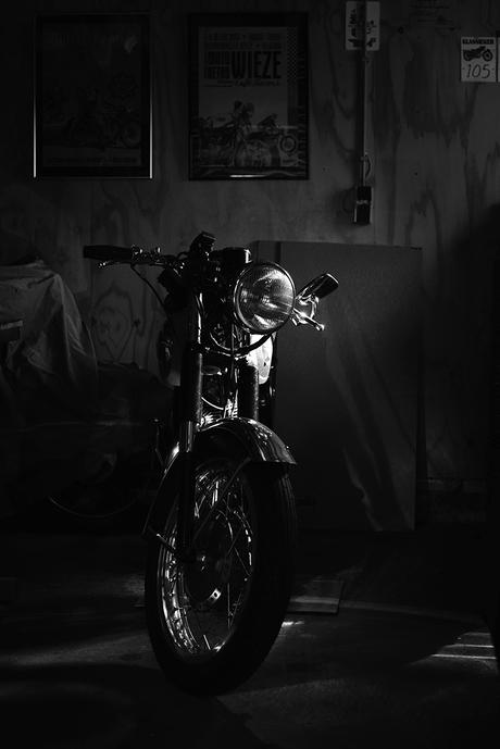 Oude BSA motor