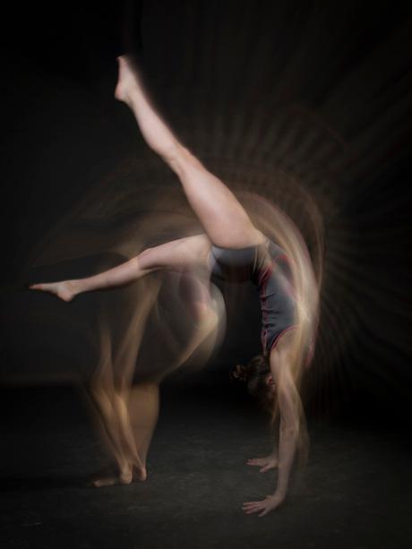 gymnast in motion, Lynn