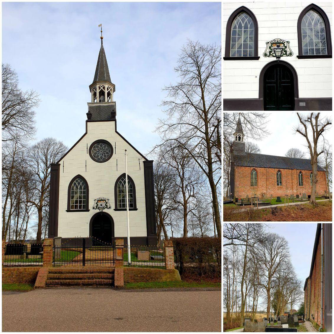 P.k.n Middelbert - Dit kerkje in Middelbert behoort tot de st Groninger kerken. Gr Bets - foto door cgfwg op 19-02-2021 - deze foto bevat: oud, architectuur, kerk