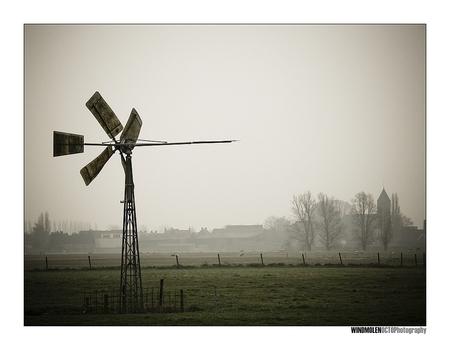 Windmolen - - - foto door Octo op 28-03-2008 - deze foto bevat: windmolen, weiland, vianen