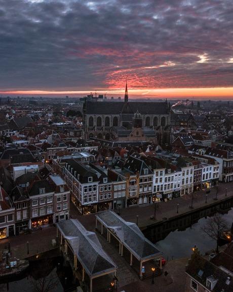 Sfeervolle morgen in Leiden