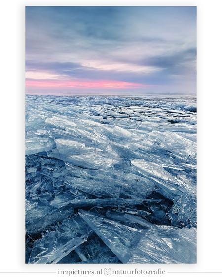 Kruiend ijs - Kruiend ijs tegen de dijk van Schellinkhout gisterochtend vroeg. Wat een prachtig gezicht was het. Ik vond het wel lastig om te fotograferen, het was - foto door in2picturesnature op 19-02-2021 - deze foto bevat: roze, blauw, water, natuur, winter, ijs, zonsopkomst, ijsschotsen, natuurverschijnsel, ijsschots, kruiend ijs