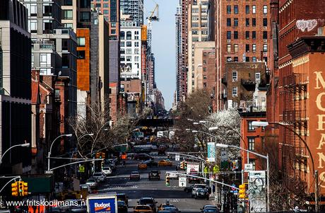 Uitzicht vanaf de High Line in New York
