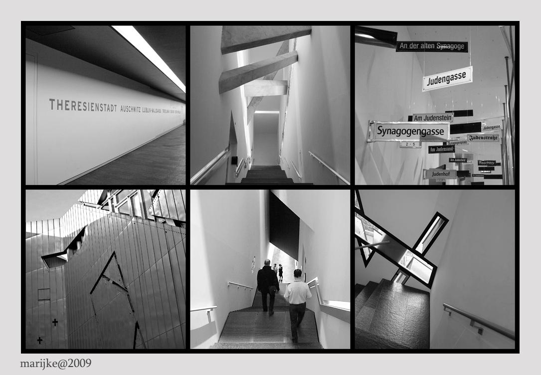 Berlijn 10 - Architect Daniël Libeskind (1946) kreeg de opdracht om een modern museum te maken over de tragische geschiednis van de joden in Duitsland. In het mus - foto door ekeren op 16-02-2009 - deze foto bevat: joods, museum