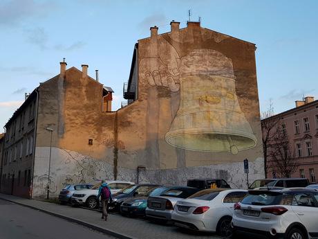 Muurschildering Krakau
