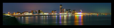 Nacht panorama vlissingen