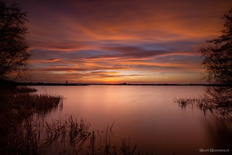 Mooie zonsopkomst in Friesland