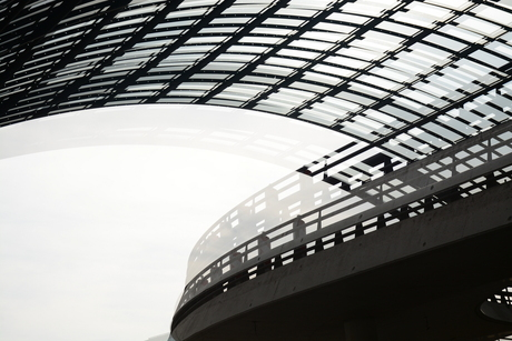Het dak van het busstation in Amsterdam