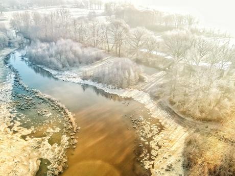 Winter in Hulsen provincie Overijssel