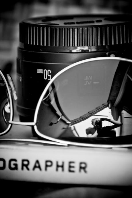 Zonnebril zelfportret