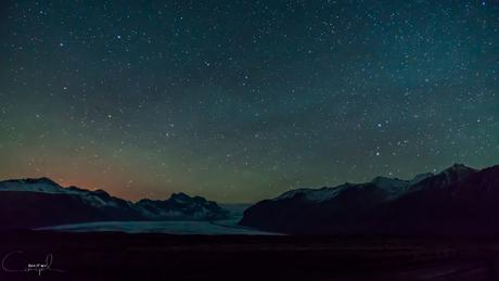 Stars above Svínafellsjökull