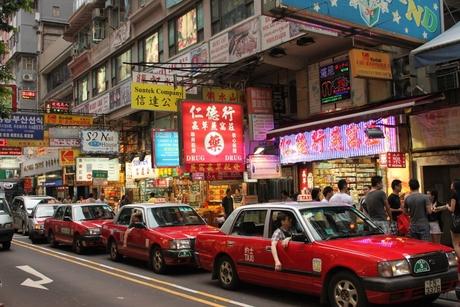 Drukte in Hong Kong