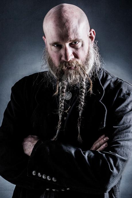 Mooie baard met vlechtjes