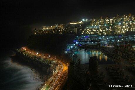 Puerto Rico seaview by night