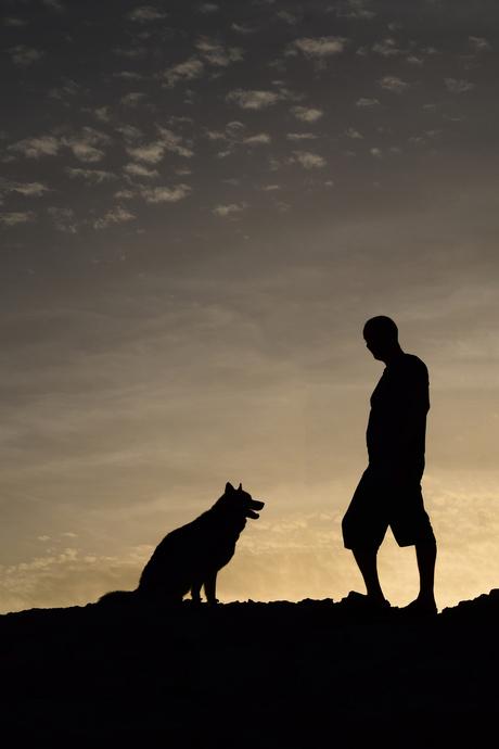 Zonsondergang Baasje en Hond