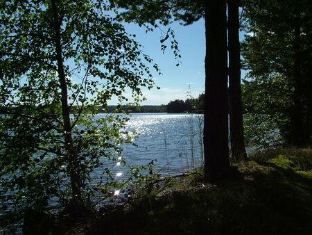 Rust en ruimte - Tijdens een pauze stop aan een meertje in Zweden aan het experimenteren met de camera. - foto door aurora37 op 04-04-2010 - deze foto bevat: vakantie, tegenlicht