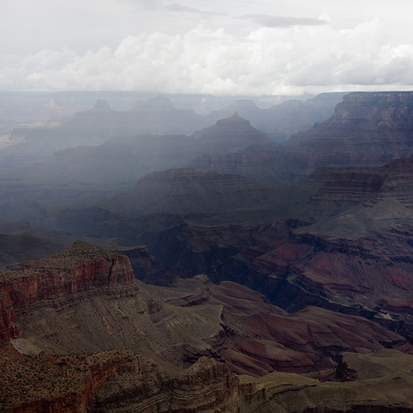 Grand Canyon in the mist