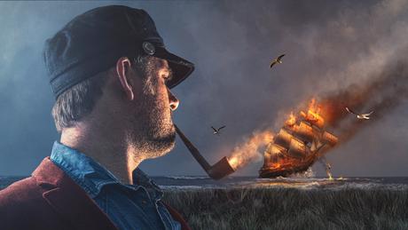 Mijn schepen verbranden