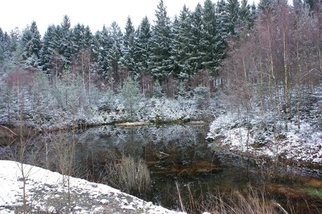 winter weerspiegeling
