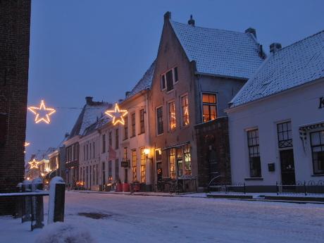 Winter Elburg Snow Nacht Night Gelderland Sneeuw