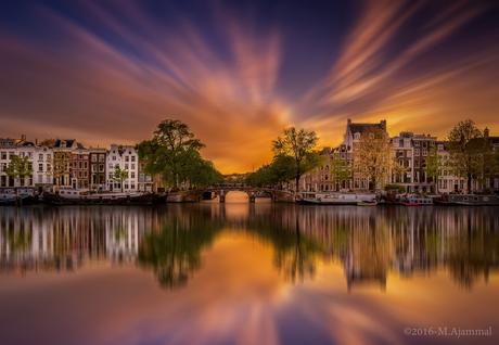 Amsterdam au Coucher du Soleil !!