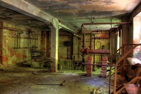Verlaten fabriek in Dresden - HDR