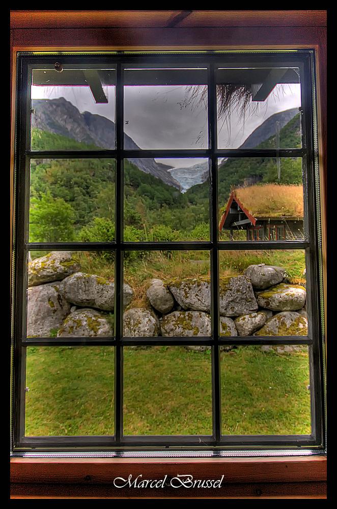 met uitzicht op..... - met uitzicht op de briksdalbreen in noorwegen. - foto door mareli01 op 28-07-2009 - deze foto bevat: noorwegen