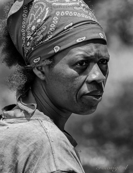 Dame in Zuid Afrika
