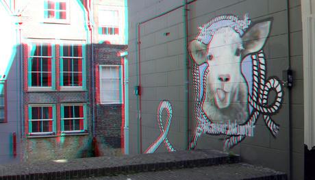 Muurschildering Dordrecht 3D