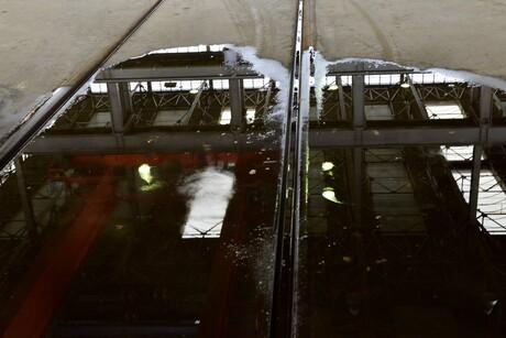 Regen in Locomotiefhal