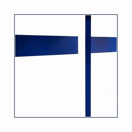 Abstract en blauw