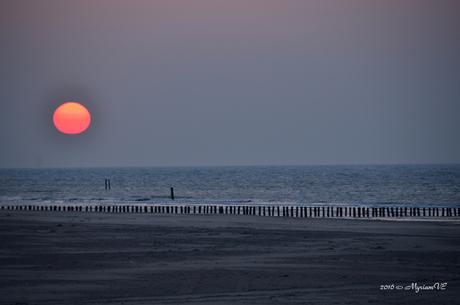 Rare zonsondergang