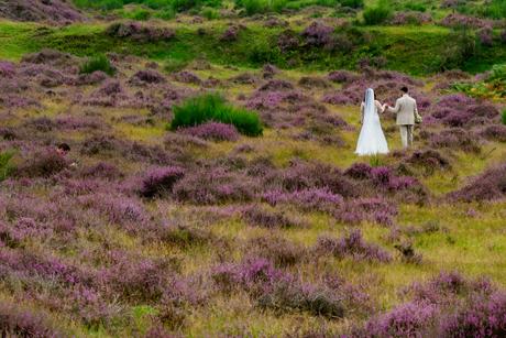 Bruidspaar op de Posbank