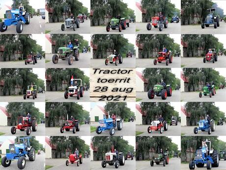 Collage  Mobile serie Tractoren  toerrit  op 28 aug 2021