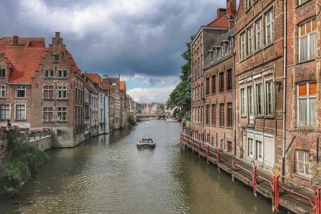 Het historisch stad Gent